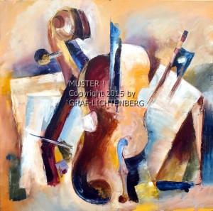 Niccolos Geige 50 x 50