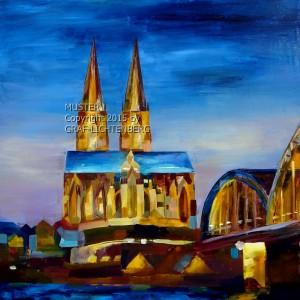 Der Dom zu Köln 60 x 60