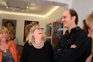 Vernissage in der ART-LOUNGE mit Annelie Kleine, Monika Krautscheid-Bosse und Susanne Hecker / August 2014