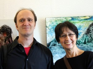 Vernissage in der ART LOUNGE mit Eva Schlüssel / August 2014