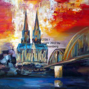 442 Kölner Dom in der Abendsonne CR