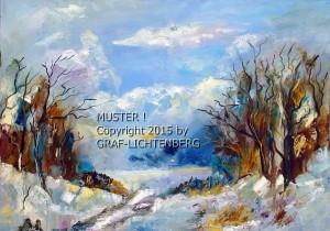 Winterassoziation 3 - 50 x 70