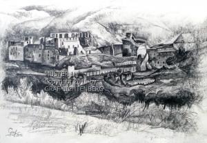 0065 Burg Rheinfels 30 x 20