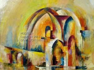 0076A Chorruinie Heisterbach F abstrakt 80 x 60