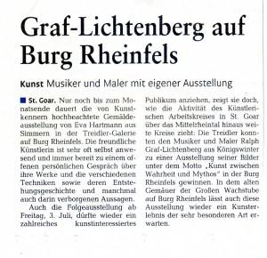 GL auf Burg Rheinfels August 2015