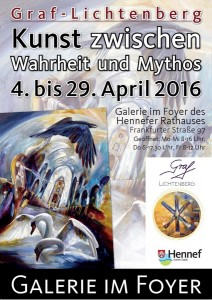 Plakat Vernissage Hennef / 2.4.2016